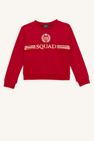 SQUAD SWEAT TOP in colour AMERICAN BEAUTY