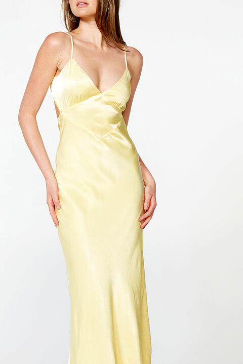 MALINDA SLIP DRESS in colour LIMELIGHT