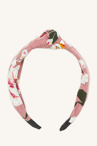 HILDE KNOTTED HEADBAND in colour BLUSHING BRIDE