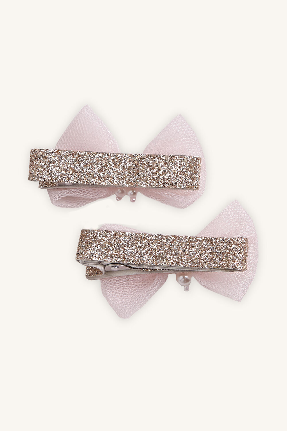 PEARL BOW CLIP in colour PINK CARNATION