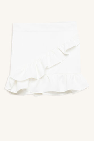 WRAP FRILL SKIRT in colour BRIGHT WHITE