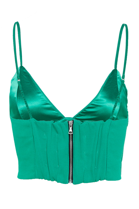 CARMEN BRALETTE in colour KELLY GREEN