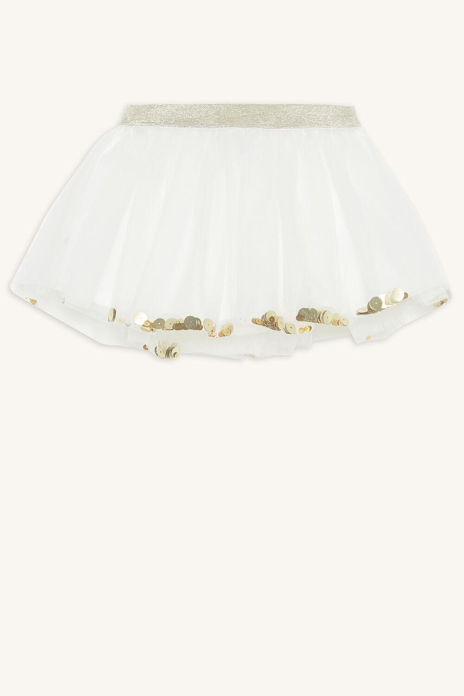 SEQUIN TUTU SKIRT in colour BRIGHT WHITE