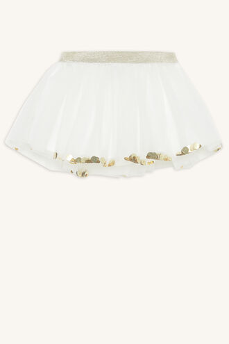 SEQUIN TUTU SKIRT in colour BRIGHT WHITE