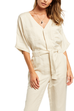 UTILITY JUMPSUIT in colour ANTIQUE WHITE