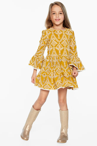 SIA BRODERIE DRESS in colour MISTED YELLOW