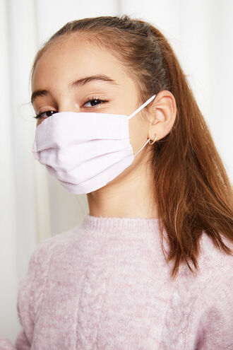 JUNIOR PLEAT FACE MASK in colour PARADISE PINK