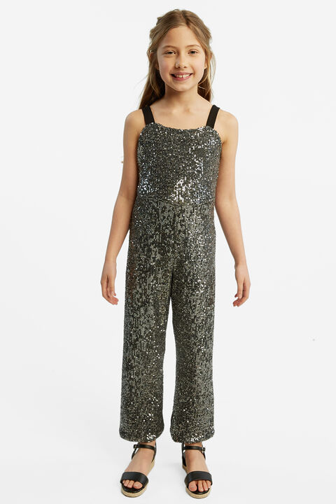 ILLY SEQUIN JUMPSUIT in colour GLACIER GRAY