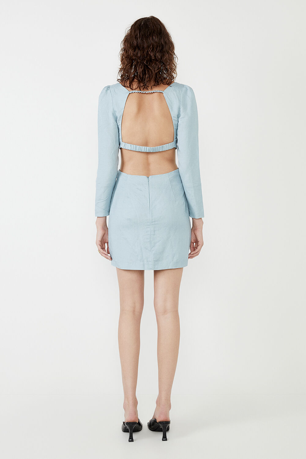 THE MINI CUT OUT DRESS in colour TANAGER TURQUOISE