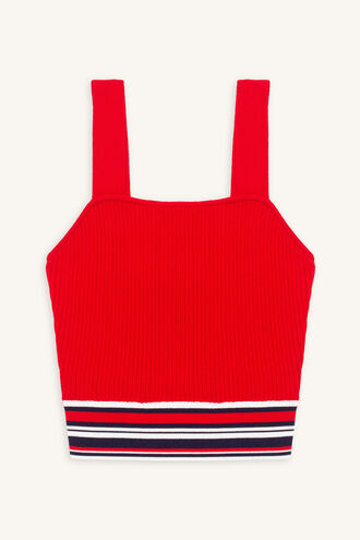 JACKSON STRIPE CROP in colour RIBBON RED
