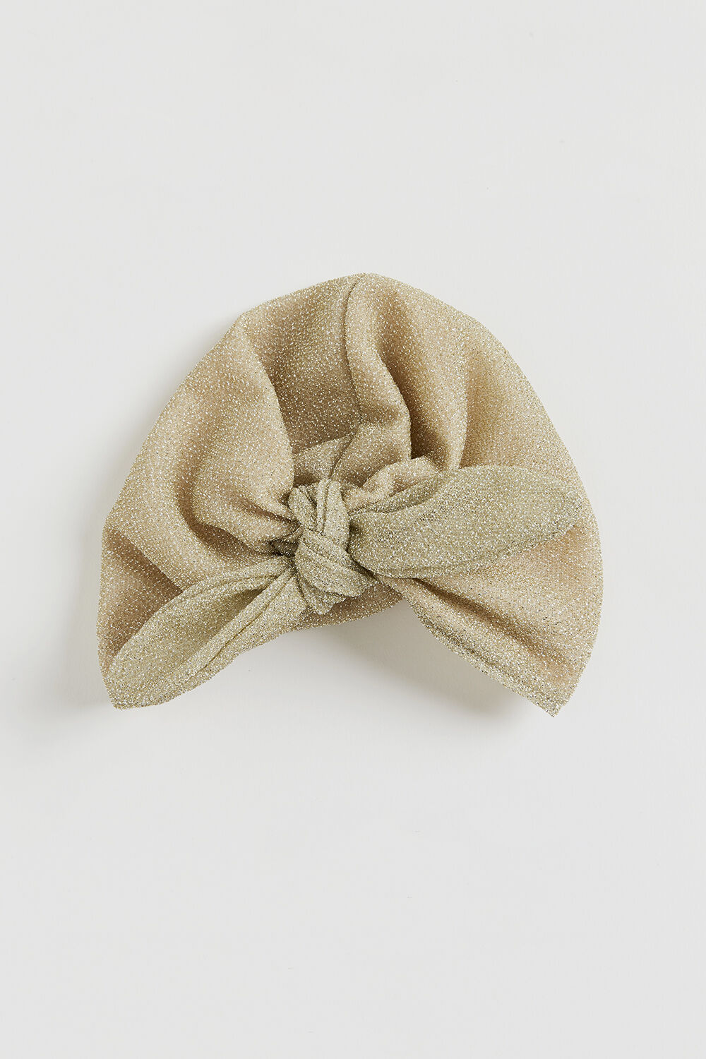 GOLD LUREX BOW WRAP in colour GOLD EARTH