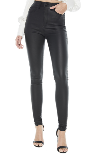 KHLOE HI TALL JEAN in colour JET BLACK