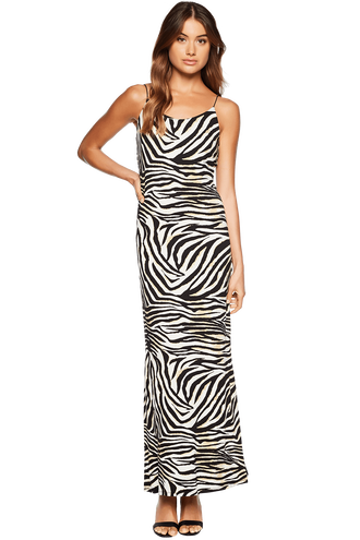 ZEBRA PRINT DRESS in colour CAVIAR
