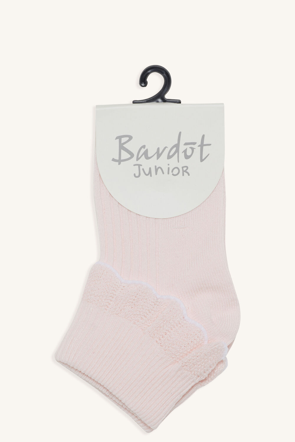 COTTON FRILL SOCKS in colour PINK CARNATION