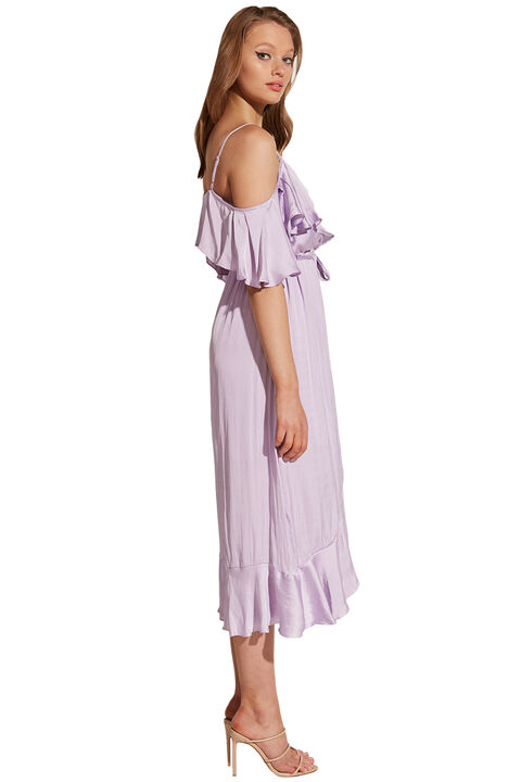BEA WRAP DRESS in colour PASTEL LILAC