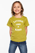 junior boy like a king tee in colour APPLE GREEN