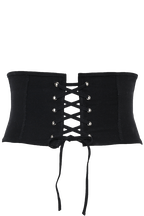 CORSETRY LACE UP BELT in colour METEORITE