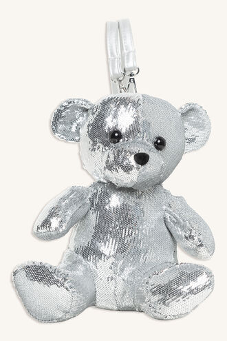 BEAR BACKPACK in colour SILVER