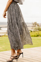 MADILYN MAXI SKIRT in colour MOLE