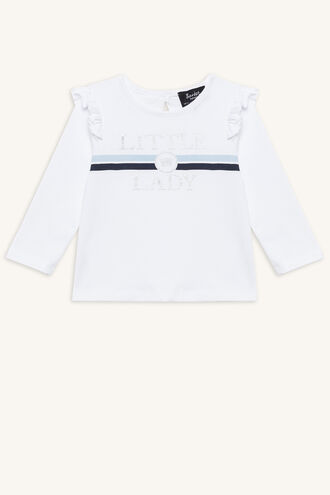 LITTLE LADY TOP in colour BRIGHT WHITE