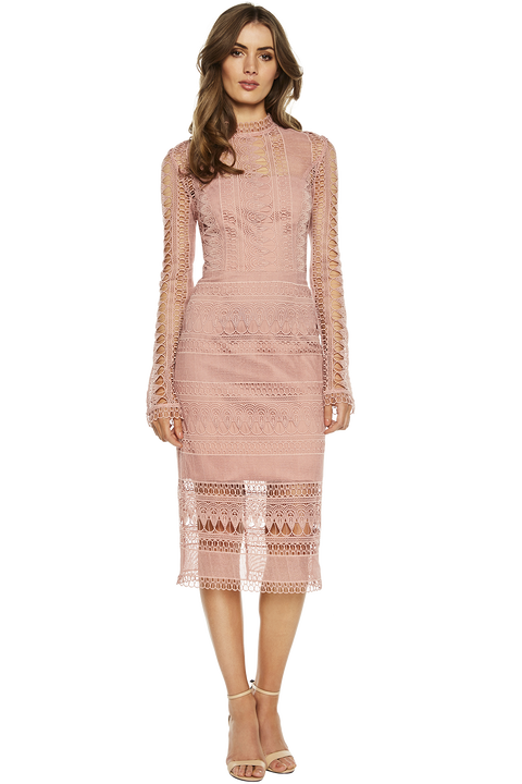 MARIANA LACE DRESS in colour BRIDAL ROSE