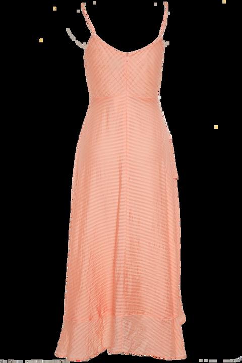 SARA FRILL DRESS in colour PALE PEACH