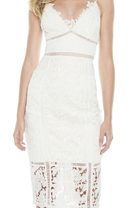 BOTANICA LACE DRESS in colour CLOUD DANCER