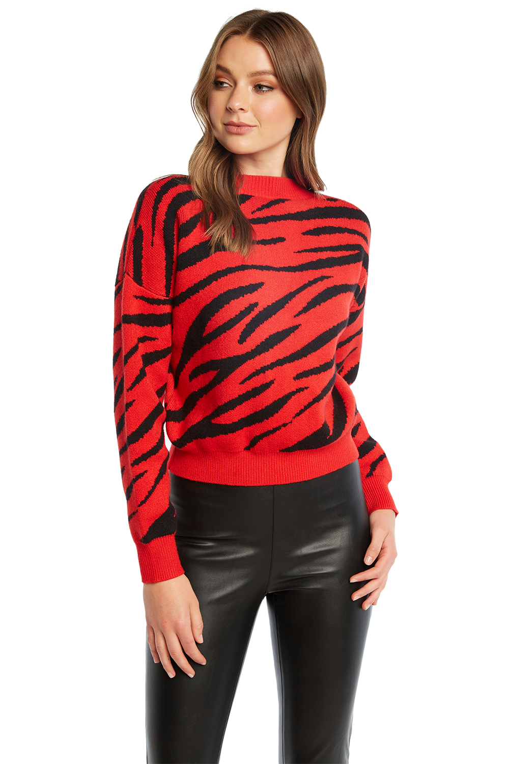 RED ZEBRA KNIT in colour RIBBON RED