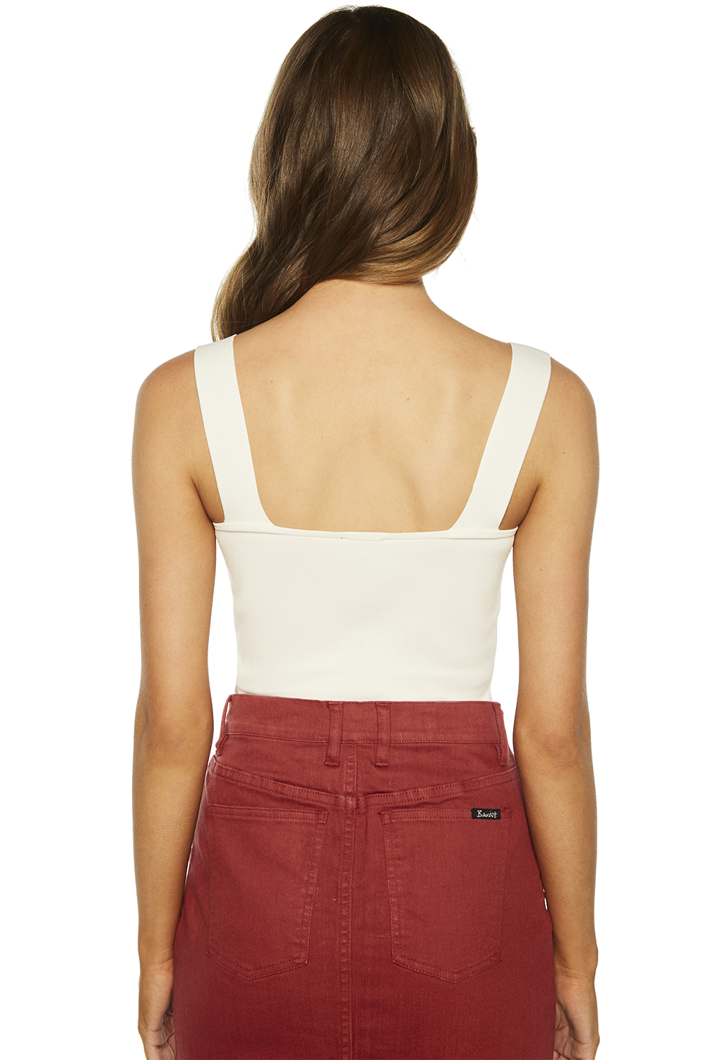 TEALE KNIT TANK TOP in colour SNOW WHITE