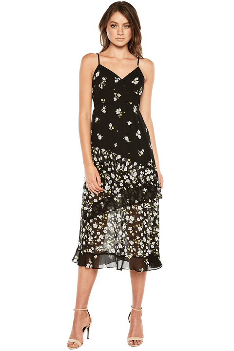 DITSY FLORAL DRESS in colour CAVIAR