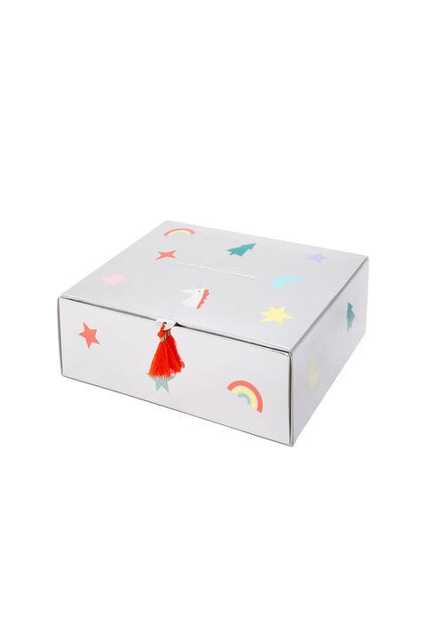 Unicorn Stamp Advent Calendar in colour BRIGHT WHITE