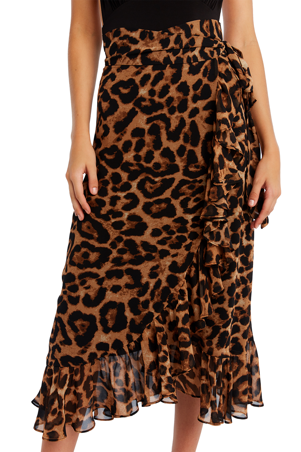 MAXI LEO WRAP SKIRT in colour DESERT MIST