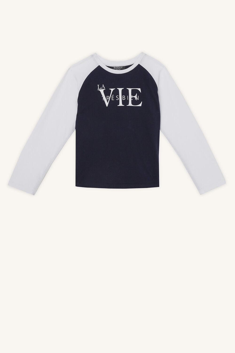 LA VIE LONGSLEEVE TEE in colour BLACK IRIS