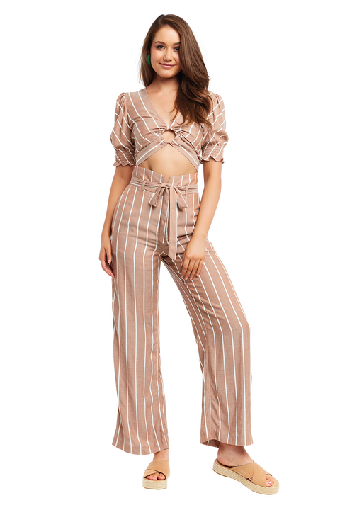 CHESTNUT STRIPE TOP