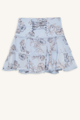 ELISA TRIM SKIRT in colour BALLAD BLUE