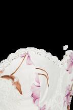 FLORAL BRODERIE BUSTIER in colour BLANC DE BLANC