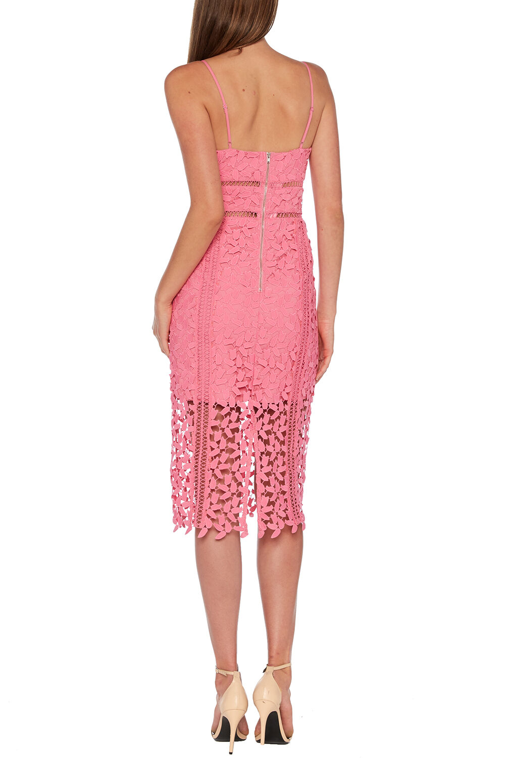 ROXY LACE DRESS in colour SACHET PINK