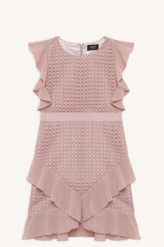 FREYER LACE DRESS in colour MELLOW ROSE