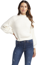 BELLE SLEEVE KNIT JUMPER in colour CLOUD DANCER