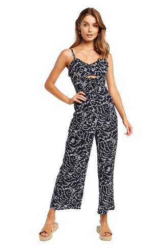 LACE UP JUMPSUIT in colour ECLIPSE
