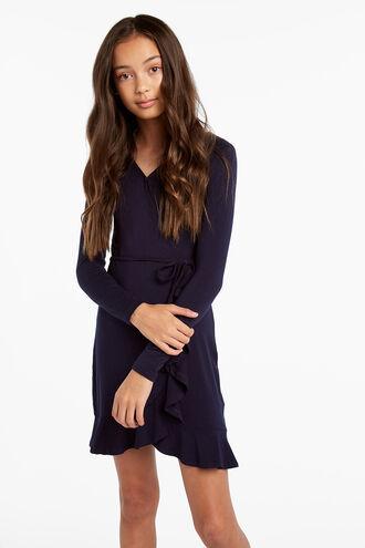 KRISSY WRAP DRESS in colour BLACK IRIS