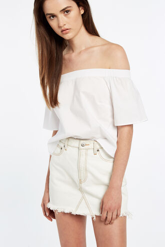 OFF SHOULDER TOP in colour BRIGHT WHITE