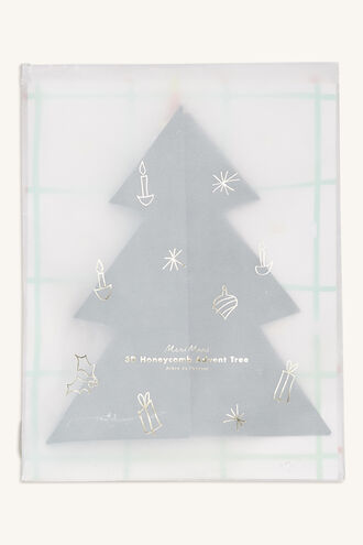 ADVENT CALENDAR HONEYCOMB TREE in colour BRIGHT WHITE