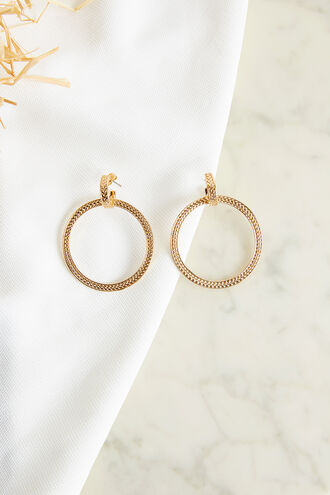 STAMPED HOOP EARRING in colour GOLD EARTH
