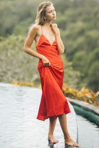 JASSIE SLIP DRESS in colour FIESTA