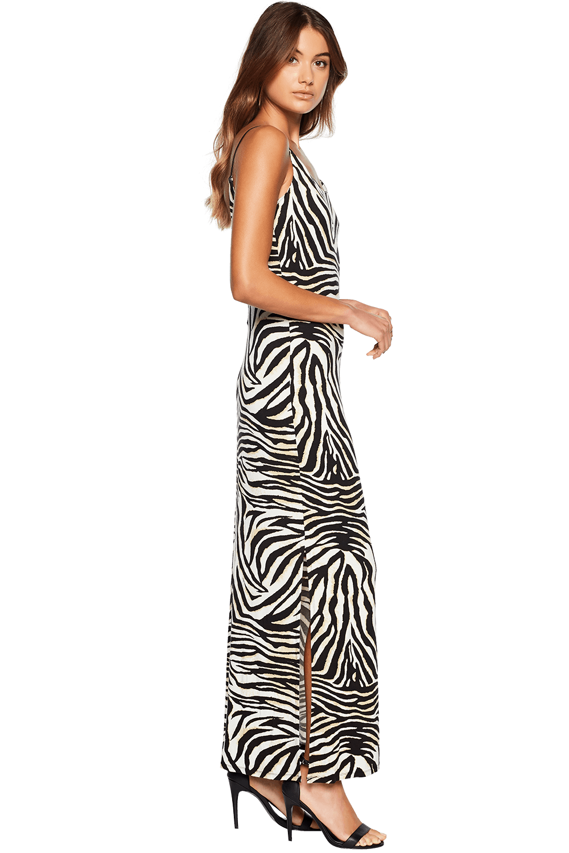 ZEBRA PRINT DRESS in colour CAVIAR