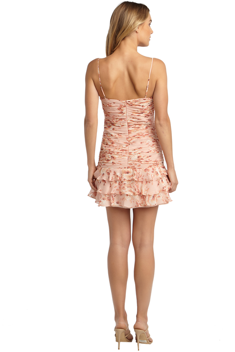 REMI FLORAL DRESS in colour PEACH MELBA