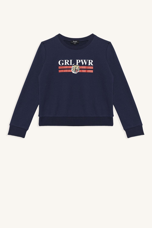 GRL PWR SWEATER in colour DRESS BLUES