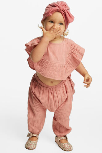 MAEVE RUFFLE PANT in colour STRAWBERRY ICE