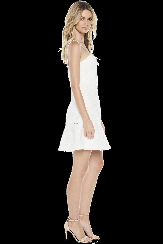 LILYA DRESS in colour CLOUD DANCER